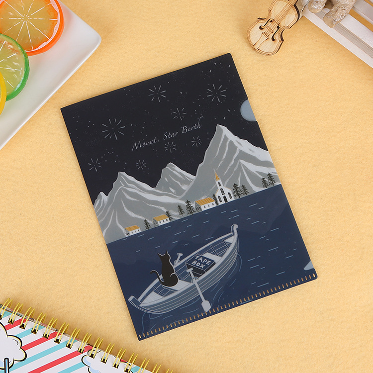 Artistic Printed File Folder for Organizing Papers