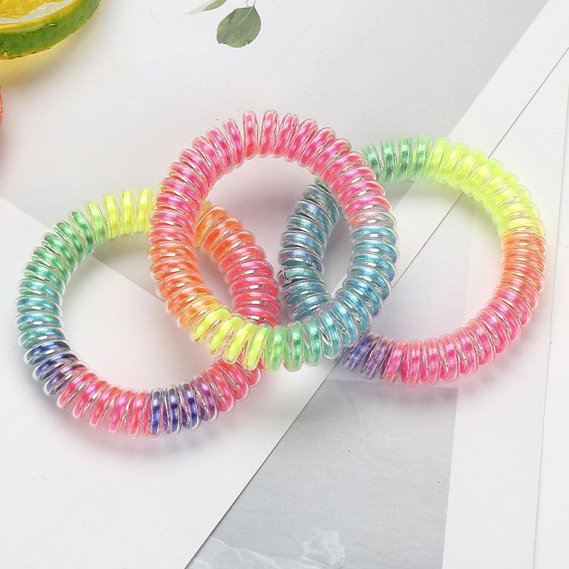 Gradient Rainbow Spiral Hair Tie