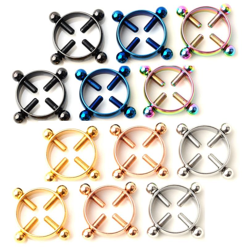 Stainless Steel Screw Nipple Ring Jewelry