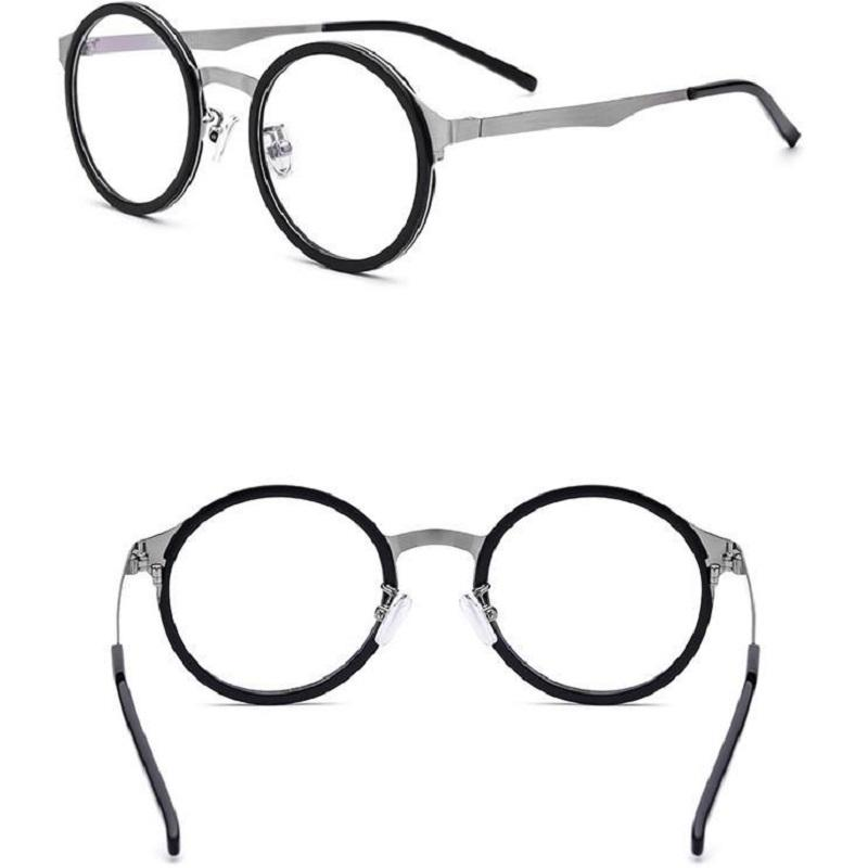 Turtle Shell Circle Frame Glasses