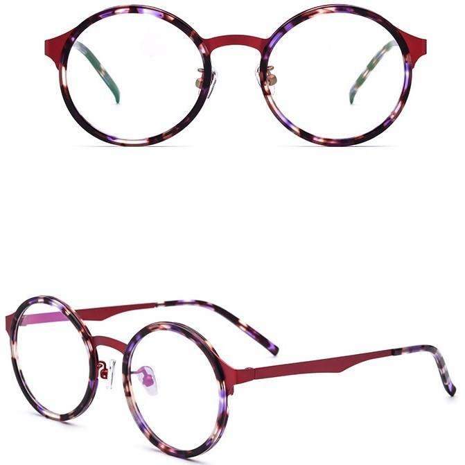 Turtle Shell Circle Frame Glasses