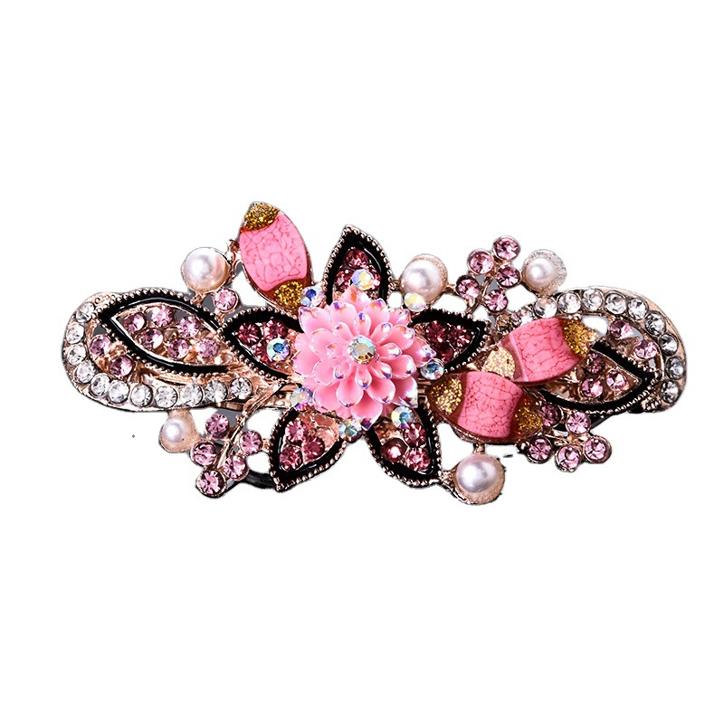 Classy Floral Barrette for Basic Hair Updo