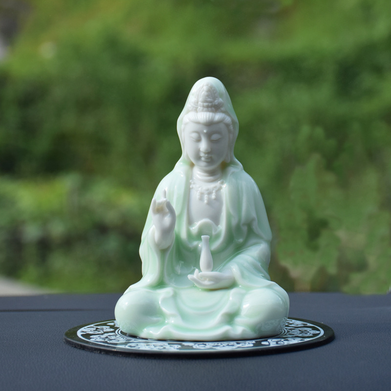 Beautiful Porcelain Character Ornament for Car Decorative Use