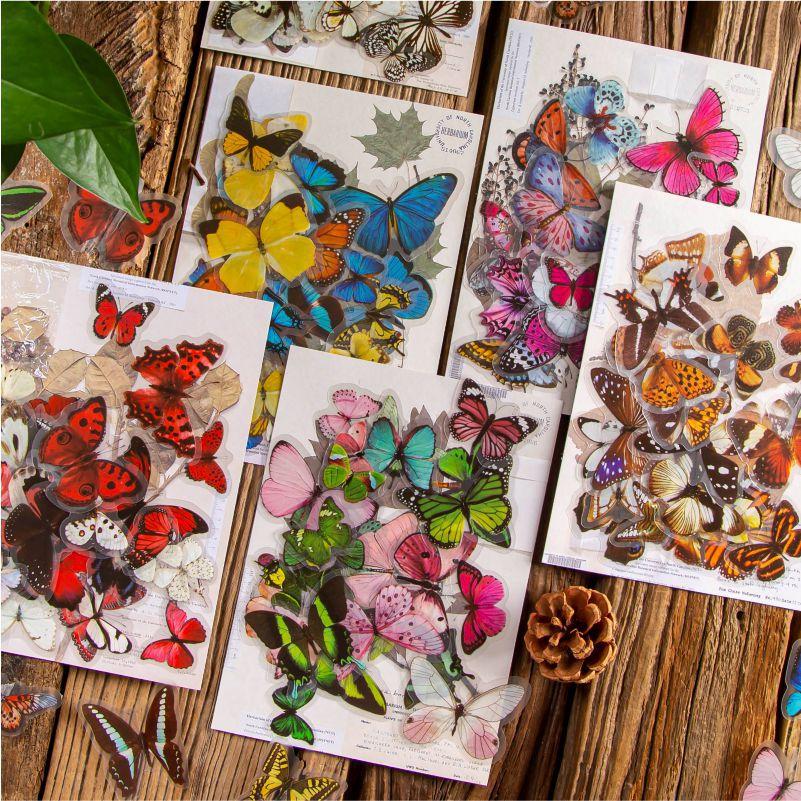 Cute Butterfly Sticker Set for Lovely Journalling