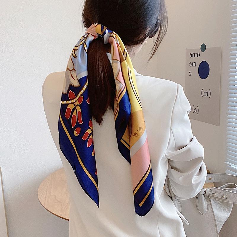 Sleek Elegant Multicolored Patterned Scarf for Posh Ensembles