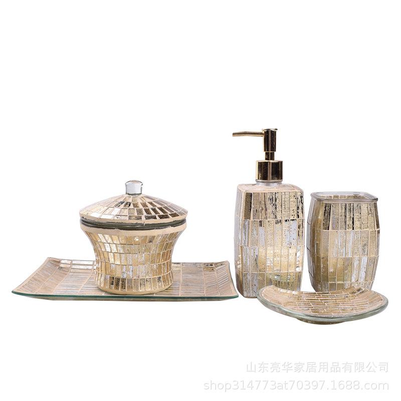 Fancy Glassware Set for Bathroom Accessories