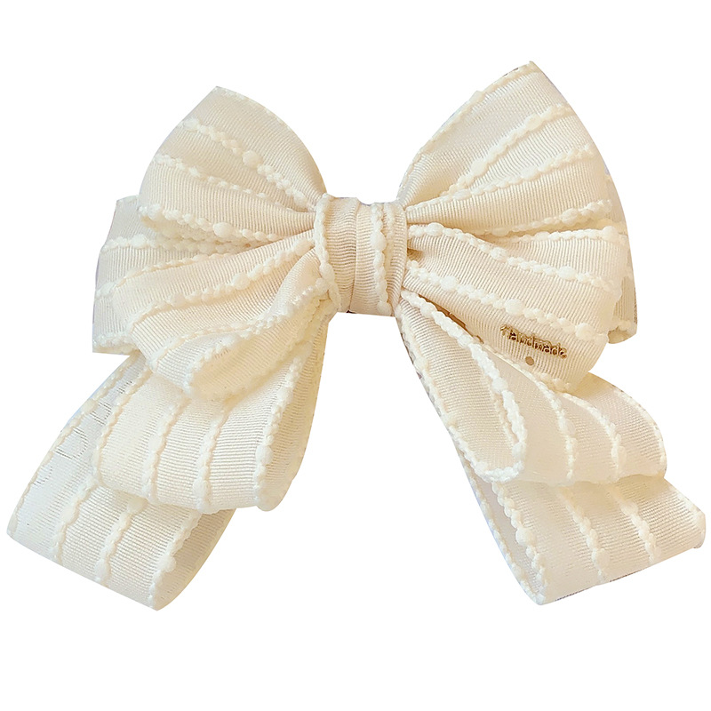 Sleek Dainty Solid-Colored Bow Brooch Pin for Formal Events