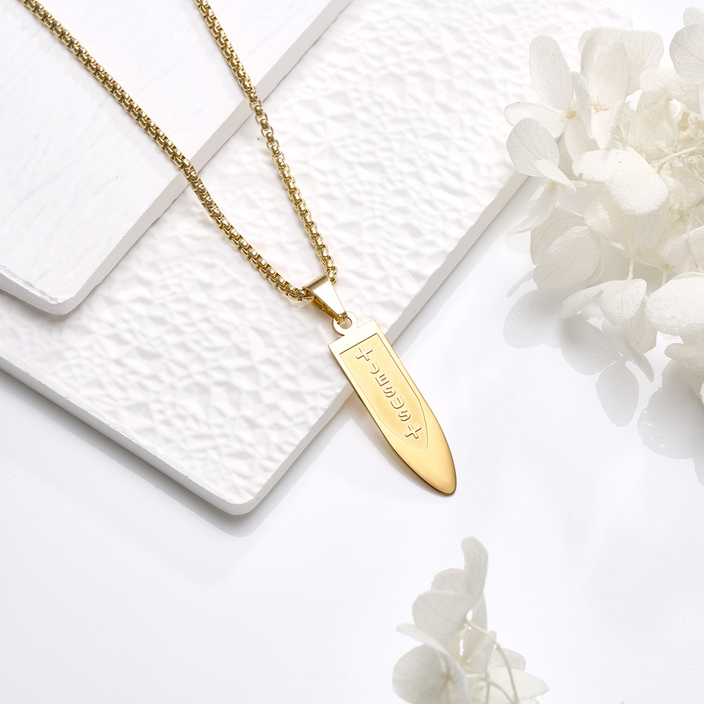 Wonderful Cross and Letter Designed Pendant Necklace for Men's Wear