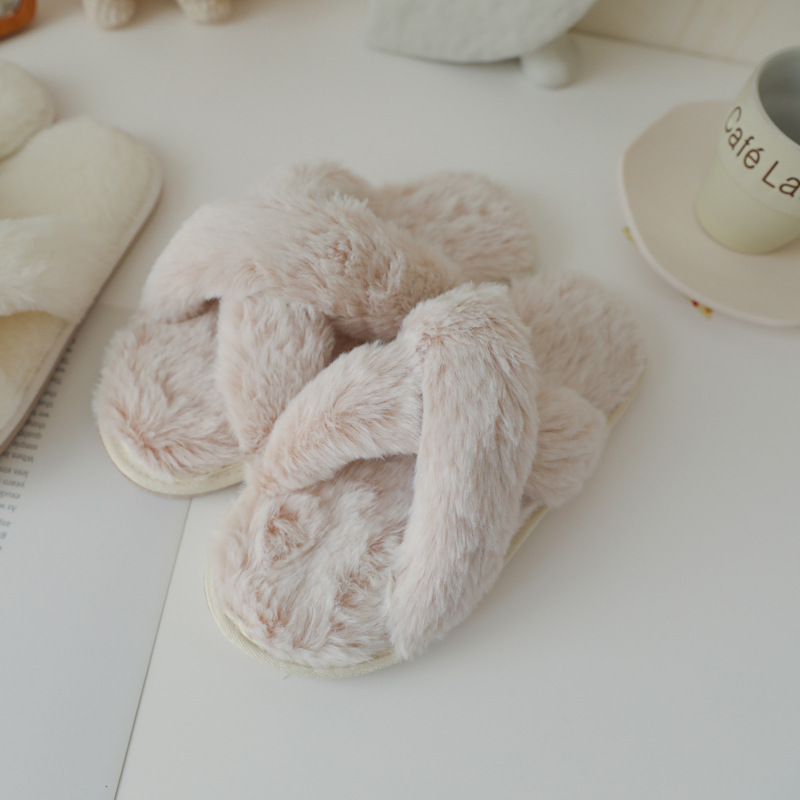 Soft and Pretty Plush Slippers for Comfy House Wear