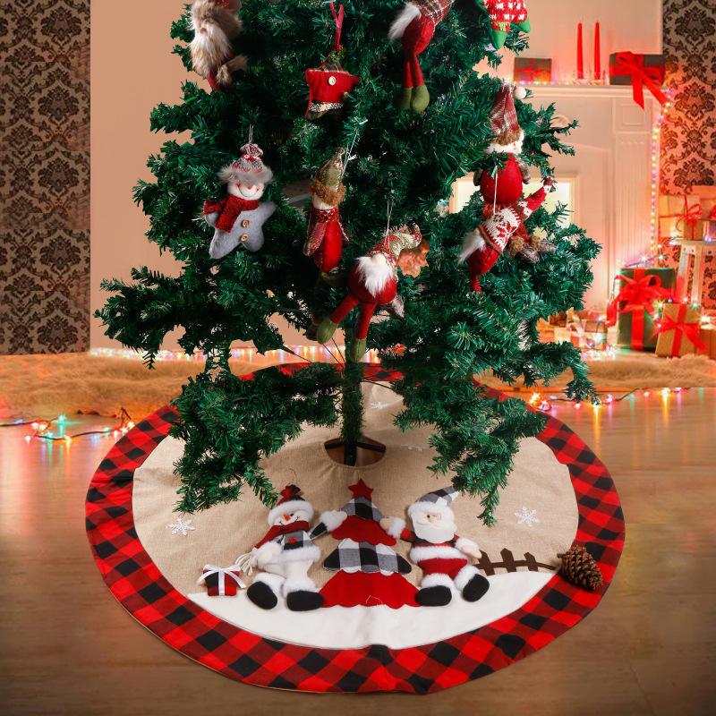 Adorning Christmas Tree Skirt for Christmas Tree Ornaments