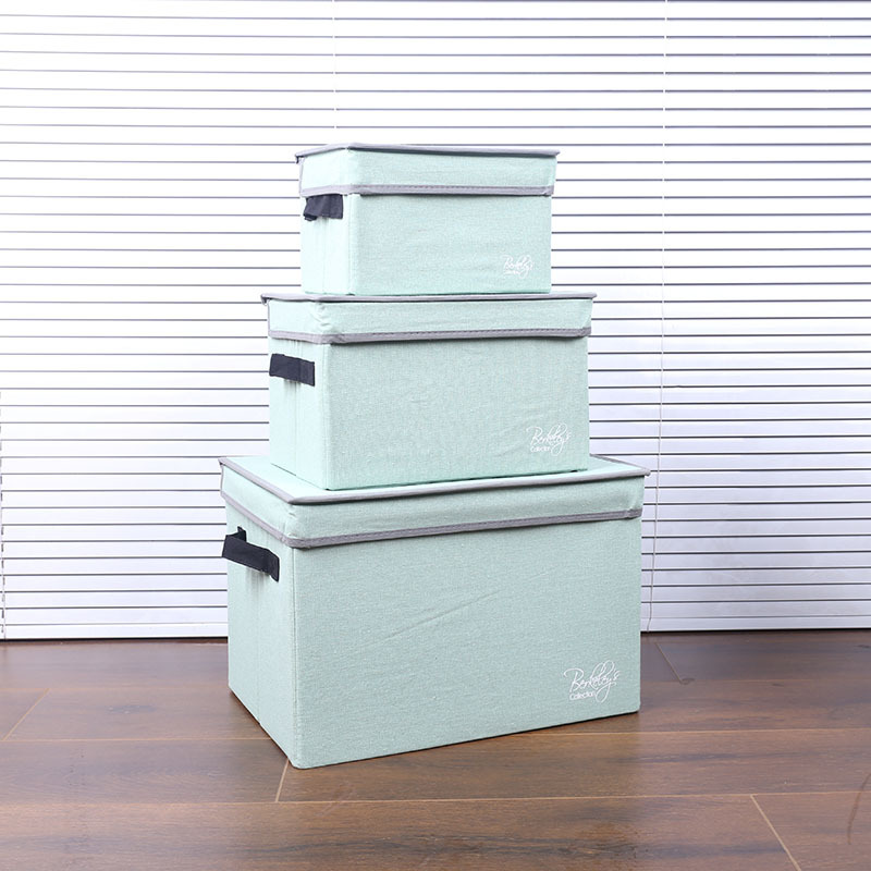 Sturdy Cloth Storage Box with Lid for Home Furnishing