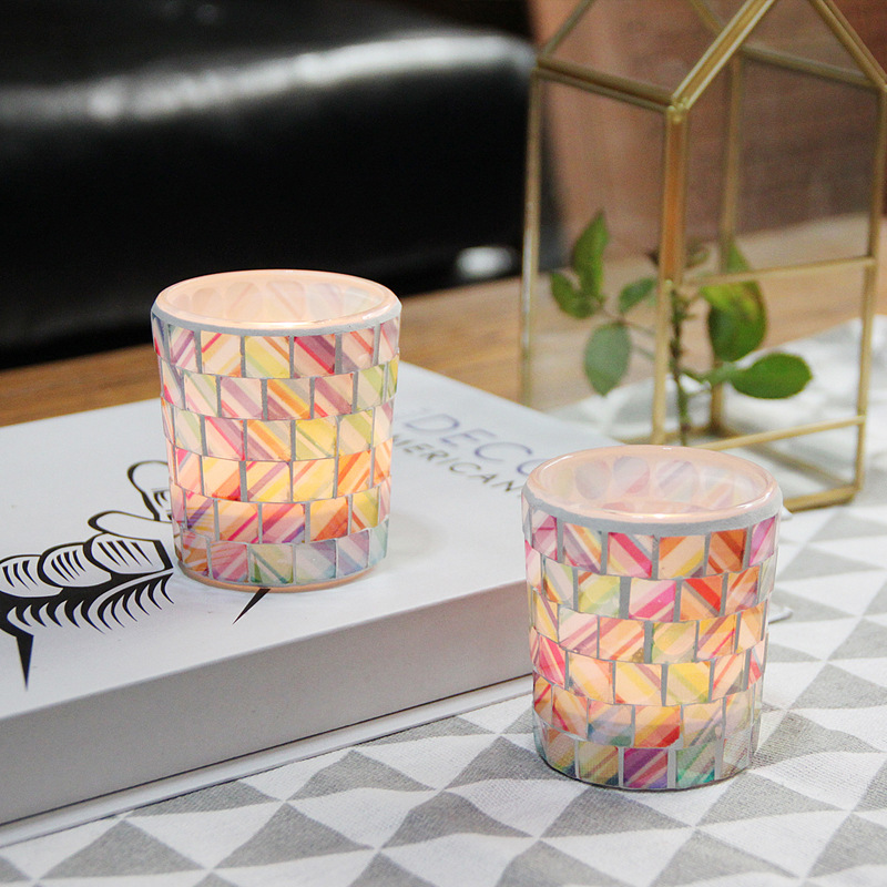 Colorful Candle Holder for Romantic Outdoor Candlelight Dinner