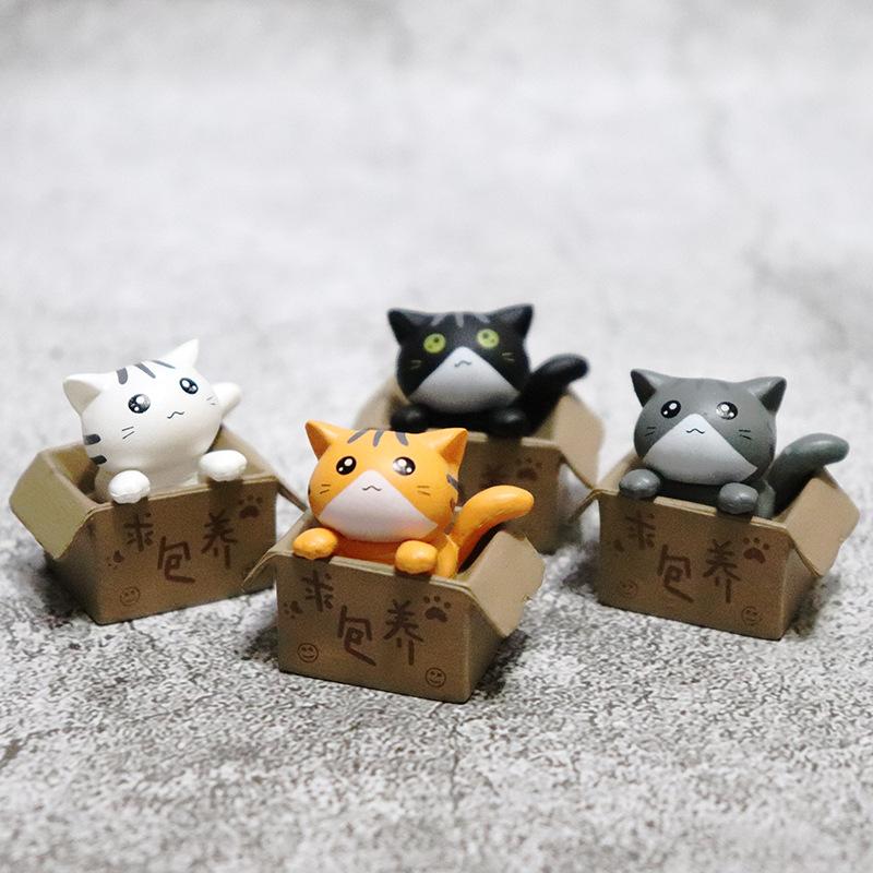 Creative Kitten in a Box Ornament for Car Decoration