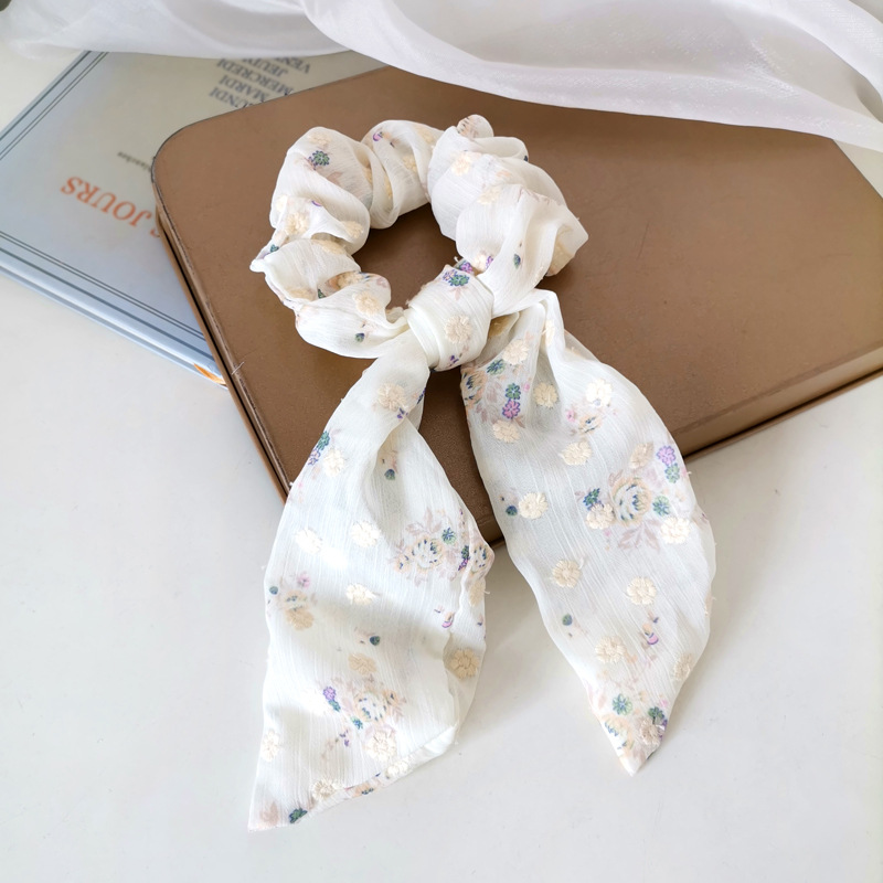 Sweet Pastoral Floral Hair Scrunchie for Picnic Dates