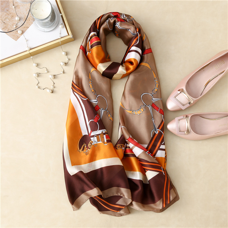 Baroque Faux Silk Shawl for Traveling Get-Up Accents