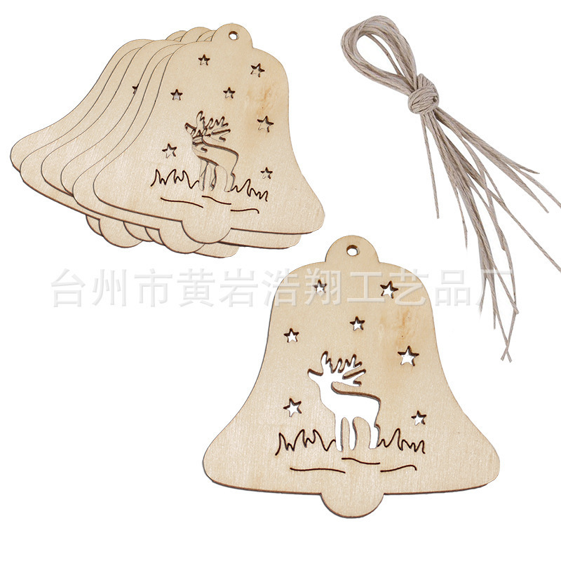 Festive Christmas Pendant Wooden Crafts for Holiday Decorations