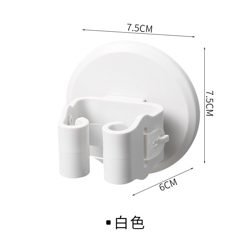 Durable Wall-Adhesive Clamp for Storing Cleaning Items