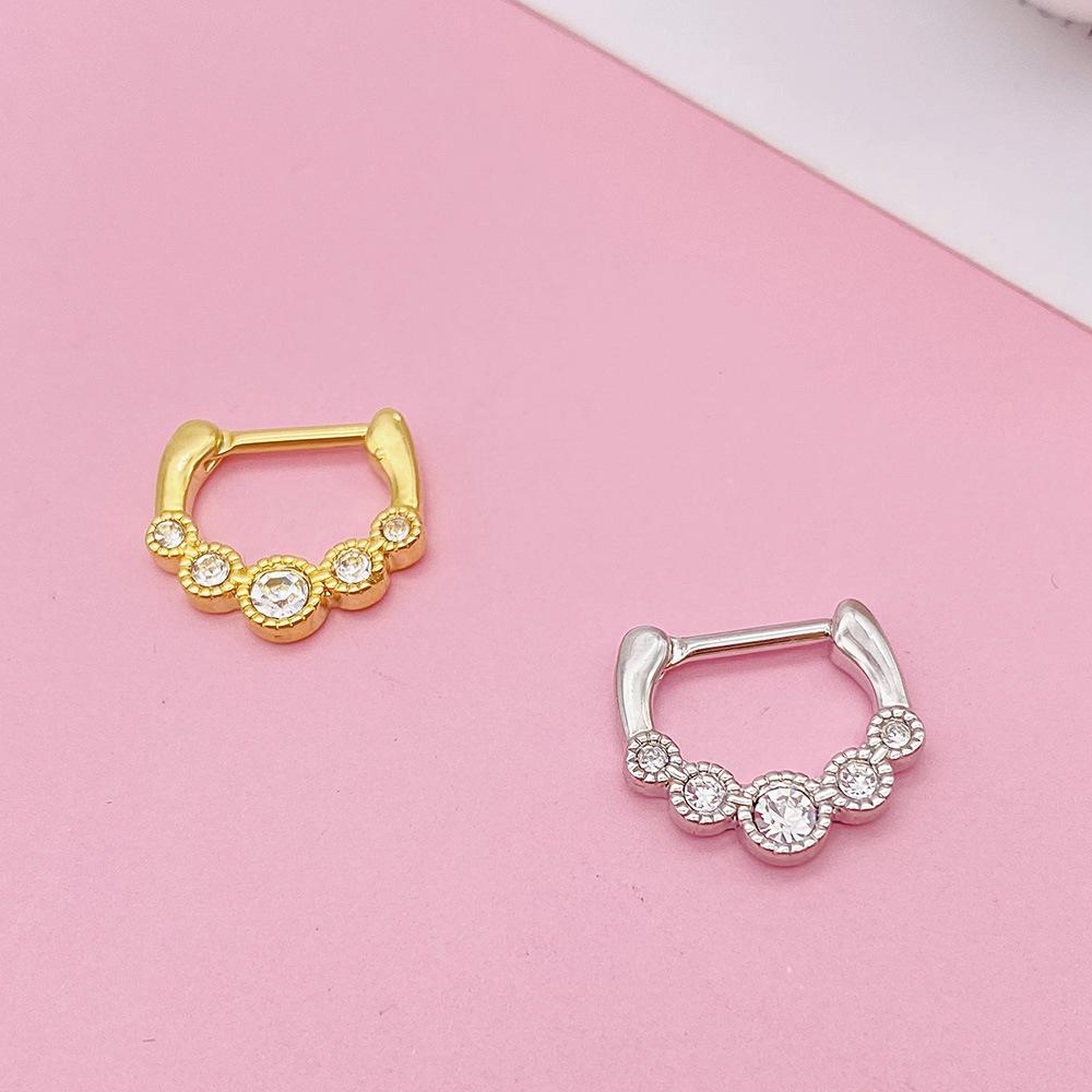 Stainless Steel Standard D-Ring Piercing for Women
