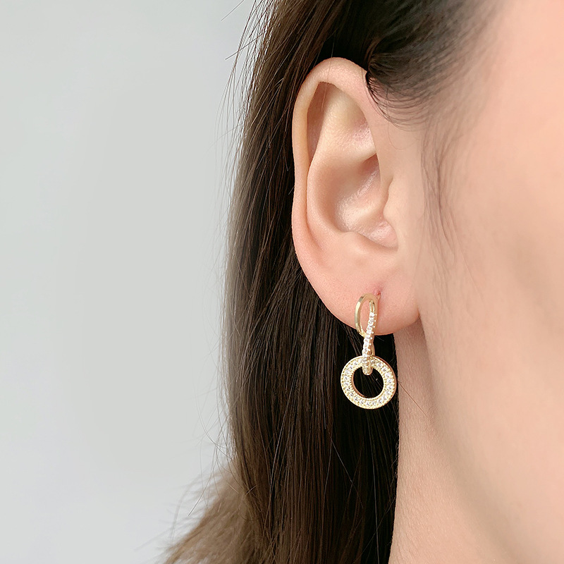 Classy Embellished Infinity Earrings for Matching Chic Outfit Inspiration