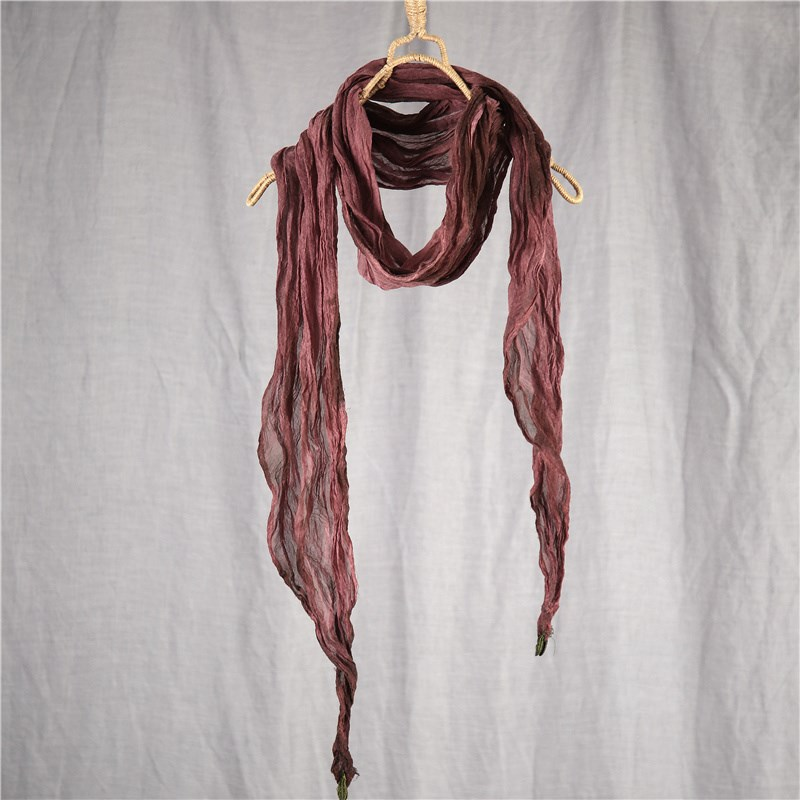 Thin Tie-Dye Scarf for Fashionable Outfit