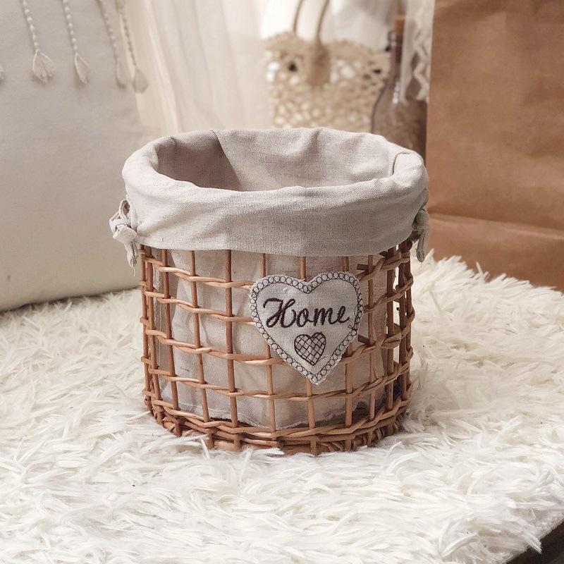 Artful Woven Storage Basket for Displaying Fruits