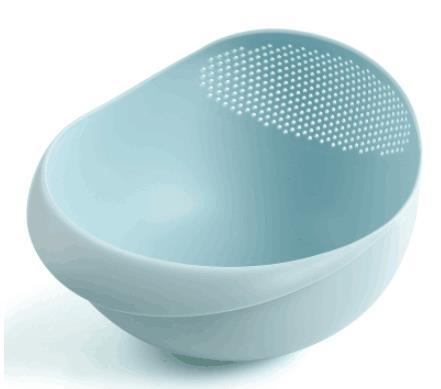 Easy-To-Use Drain Kitchen Bowl for Fruits and Rice