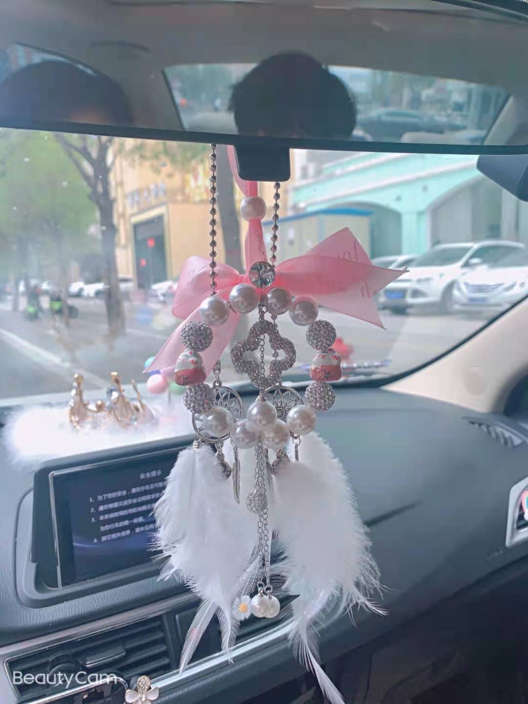 Creative Beaded Car Hanging Decor for Gift on Special Occasions