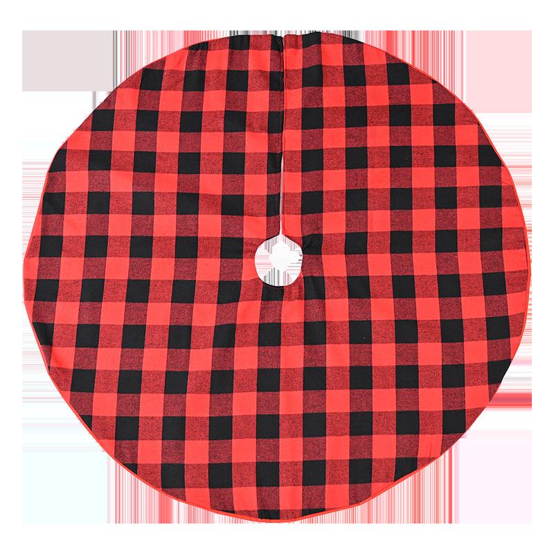 Red Plaid Christmas Skirt for Cute Christmas Setup