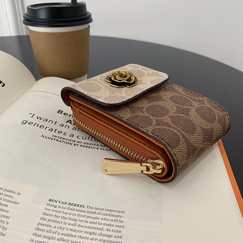 Modern Faux Leather Vertical Wallet for Organized Card Holder