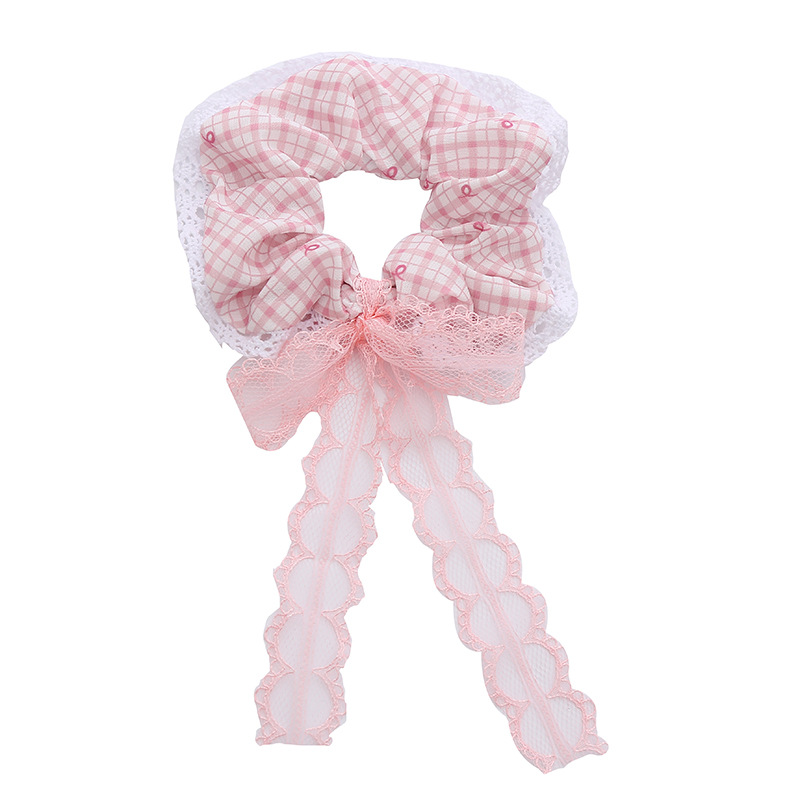 Adorable Pastoral Style Rope Plaid Hair Tie For  Picnic Dates