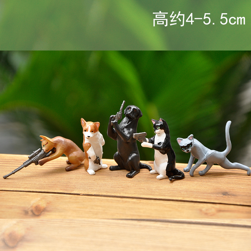 Animated Animal Action Figure Toy for Bookshelf Decorations