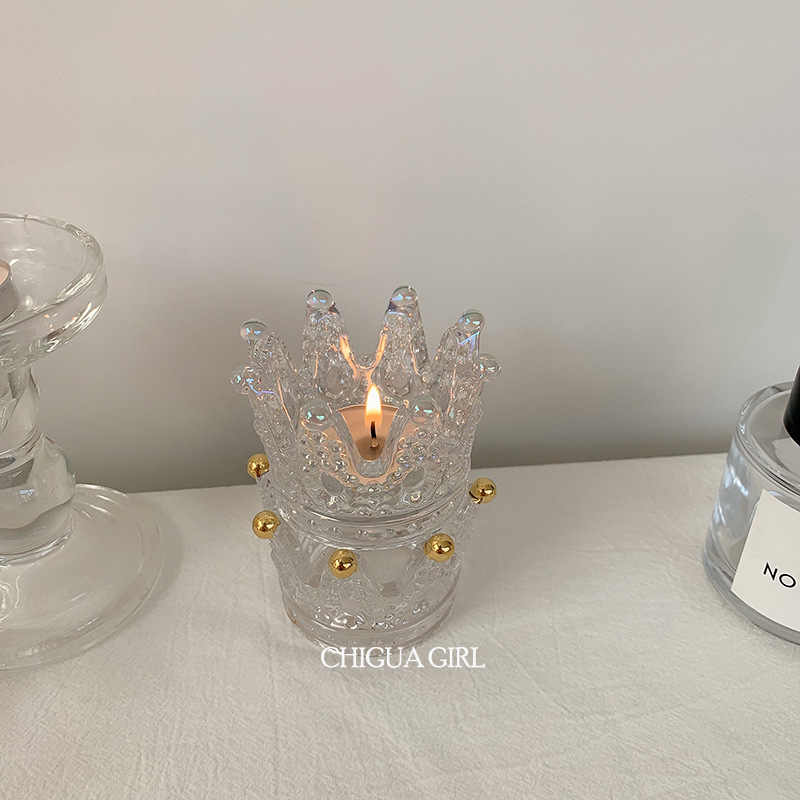 Elegant Crown Candle Holder for Luxe Center Tables