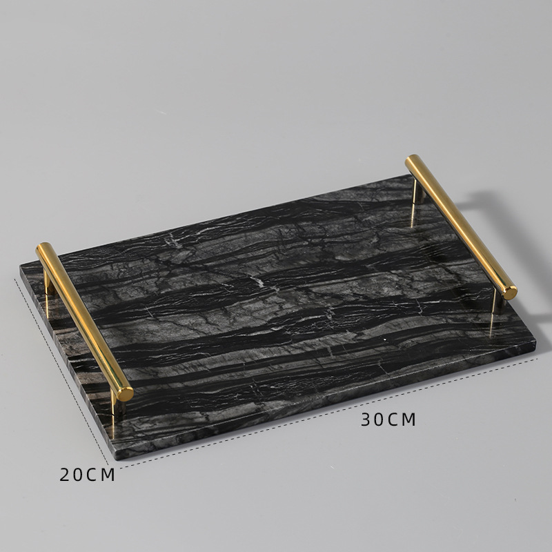 Nordic Marble Tray Plate for Delicious Canapes