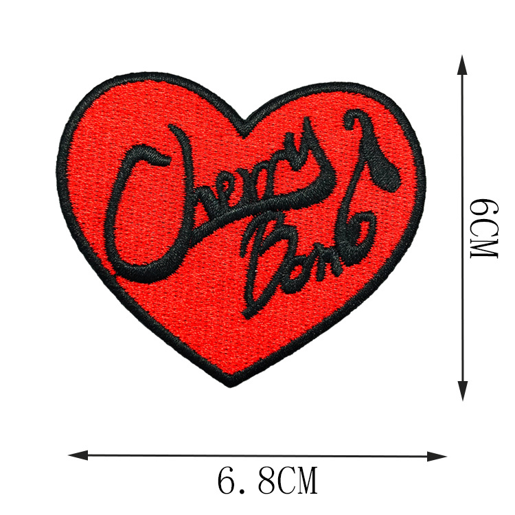 Mini Heart-Shaped Embroidered Patches for Bags and Clothes Design