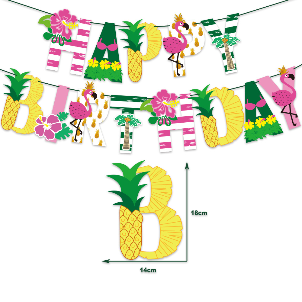 """Bohemian """"Happy Birthday"""" Banner for Pool Birthday Party"""