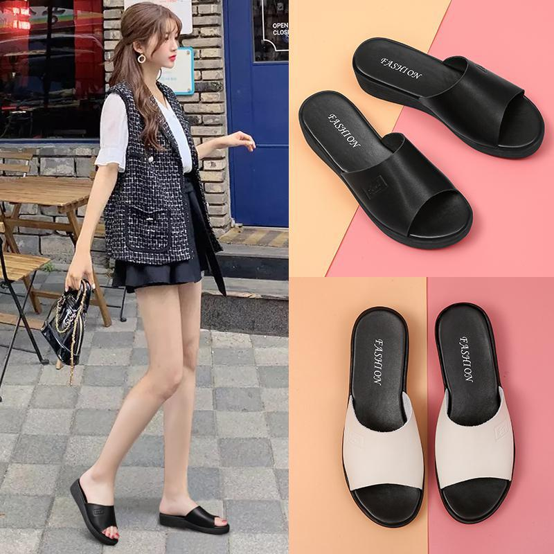 Chic Simple Soft-Soled Slippers for Casual Shopping Trips
