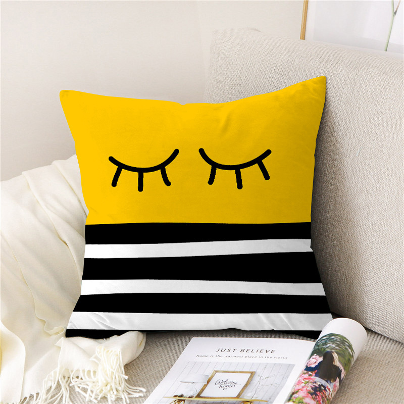 Bright Yellow Pillowcase for Color-Pop Room Improvement