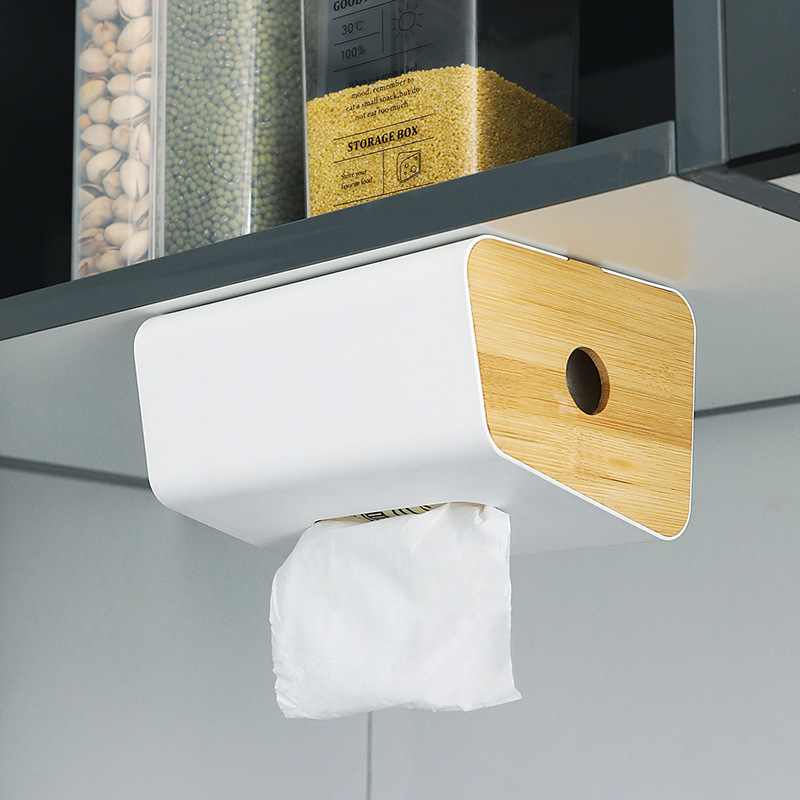 Wall-Mounted Tissue Box Cover for Easy-to-Get Tissues