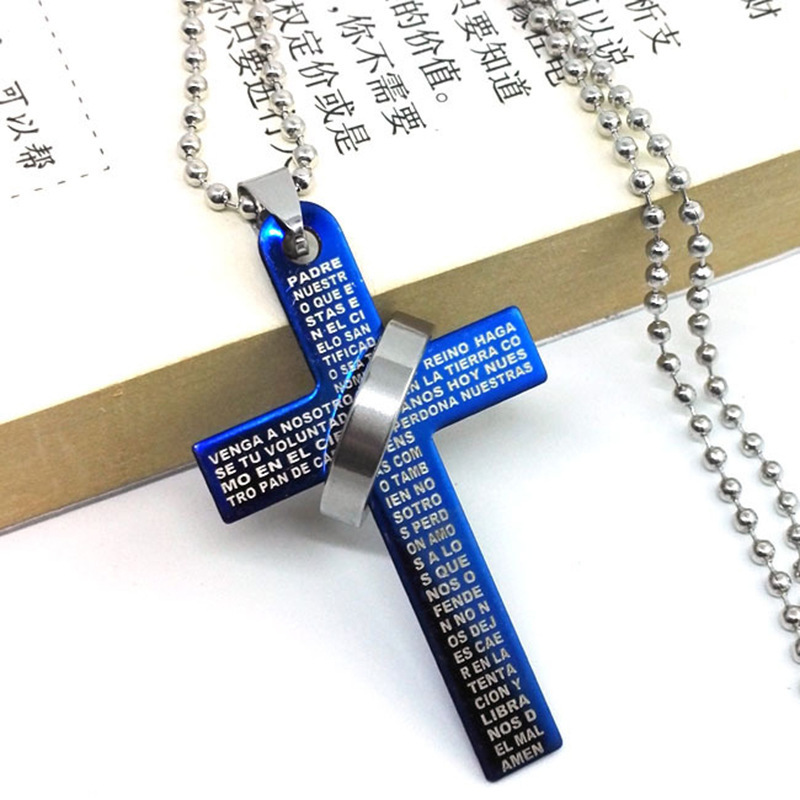 Loose Crucifix Pendant Necklace for Casual Outdoor Fashion