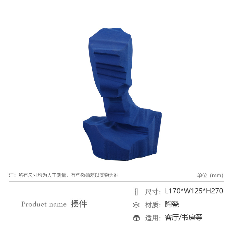 Minimalist Ceramic Abstract Human Sculpture Decoration for Decorating Your Table