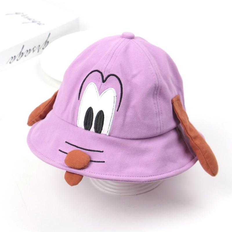 Statement Bucket Hat with Puppy Details on Top for Children's Fashion Wear