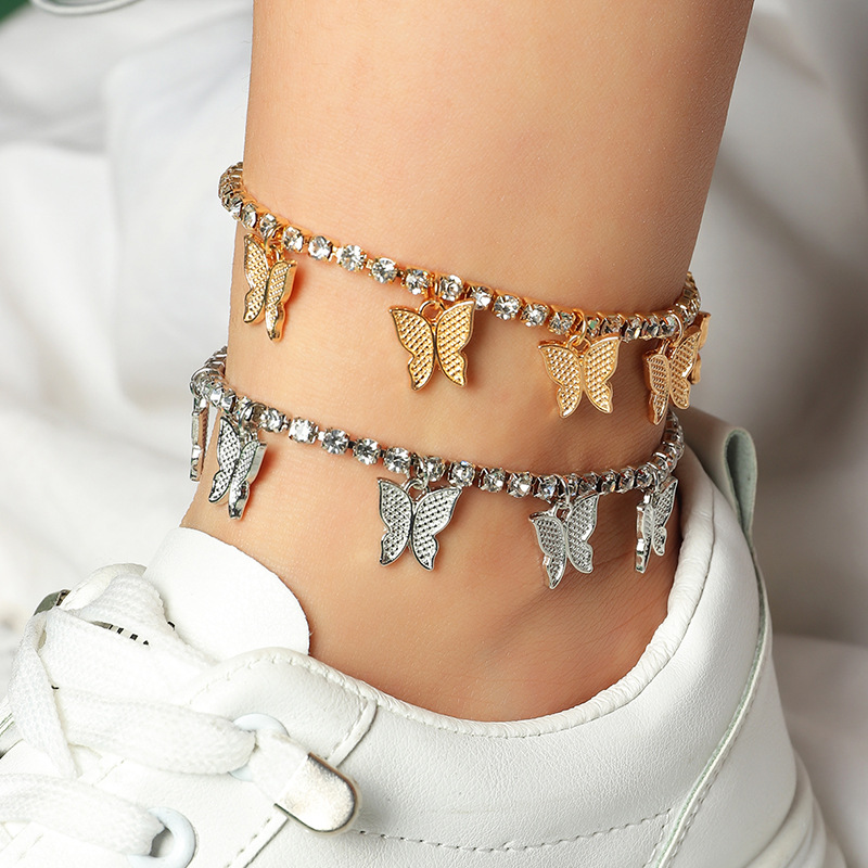 Magnificent Butterfly Pendant Anklet for Trendy and Chic Accessories