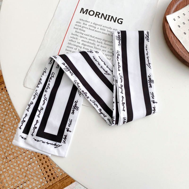 Stylish Geometric Pattern Scarf Hair Tie for Travel Outfits
