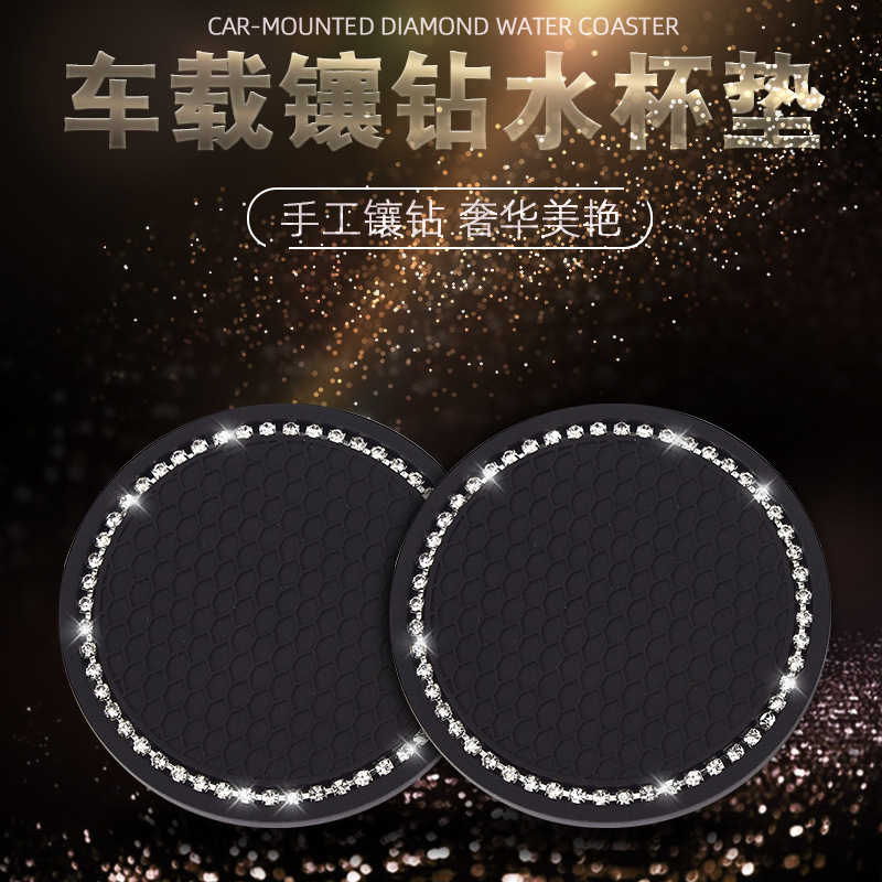 Sparkly Silicone Coaster for Car Drinks