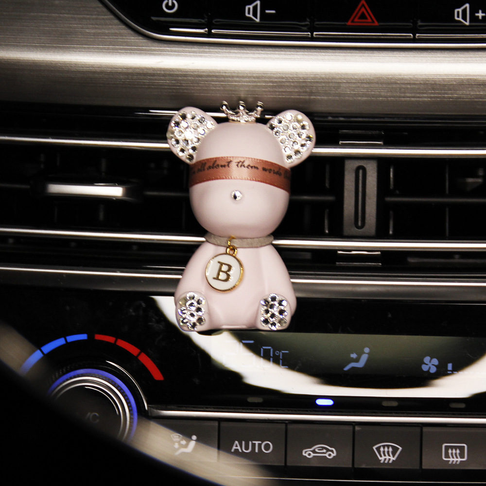 Cool Stone Diffusing Bear Car Perfume for Good Smelling Interiors