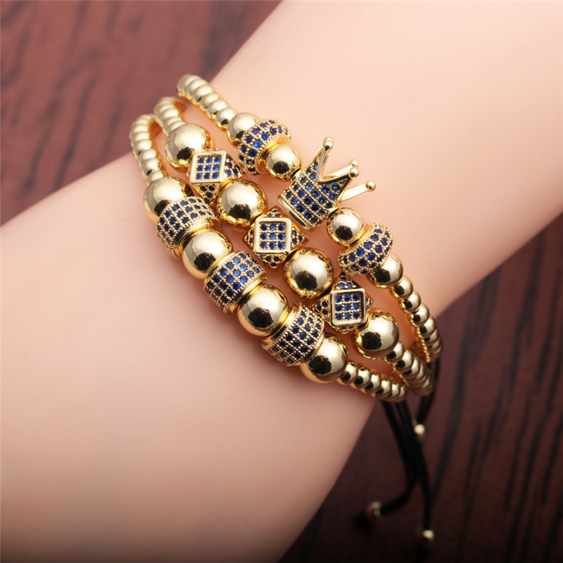 Adjustable Titanium Steel/Copper Beaded Bracelet for Dinner Dates