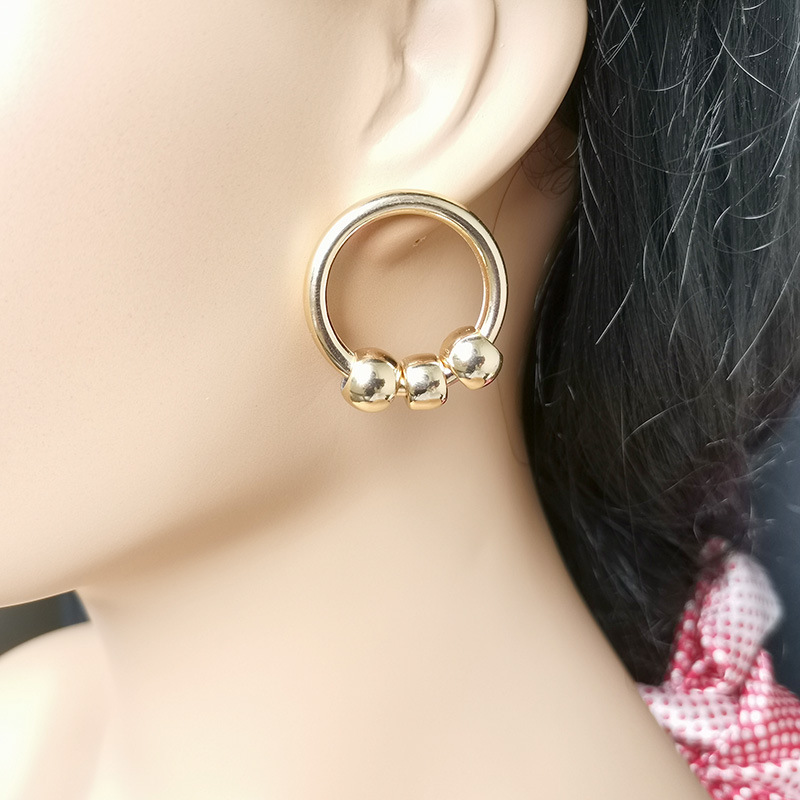 Classy and Chic European Style Geometric Circular Earrings for Ladies