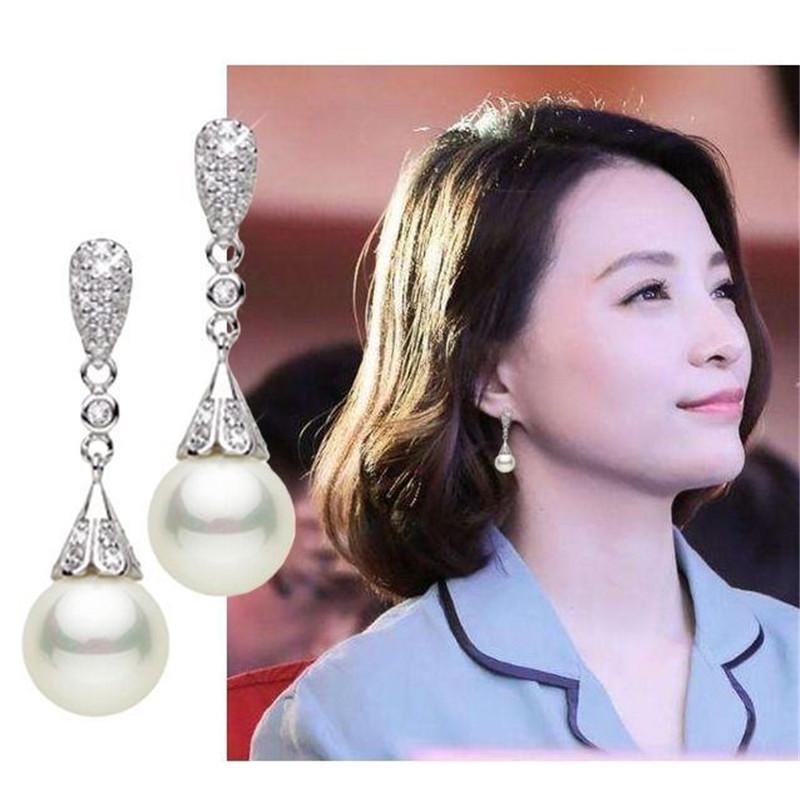 Dainty White Copper Earrings for Chic Looks