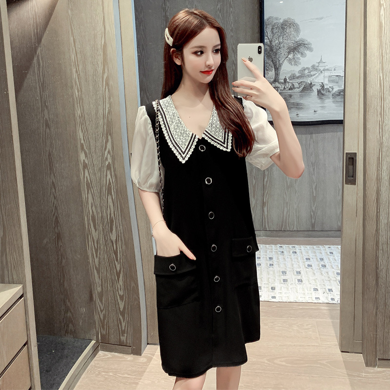 Stylish Loose-Fit Chiffon Dress for Going Out with Friends