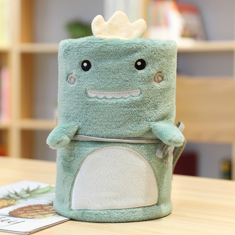 Cute Animal Style Polyester Roll Blanket for Children